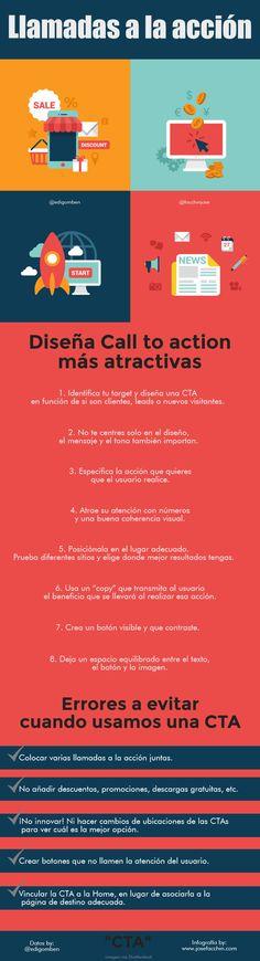 Cómo crear Llamadas a la Acción más atractivas #infografia #infographic #marketing