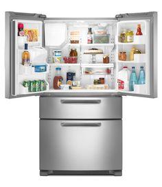 MFX2570AEM Ice2O Stainless Steel 25.0 Cu Ft French-Door Refrigerator (Bottom Freezer, Energy Star)