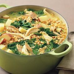 A filling and delicious option is this Chicken and White Bean Stew! #WWLoves #recipe