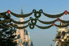 Disneyland Paris Castle, Xmas Decorations, Ceiling Lights, Outdoor Ceiling Lights, Christmas Door Decorations, Ceiling Fixtures, Christmas Decor, Ceiling Lighting
