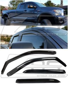 For 10-15 Equinox Wind Deflector Side Window Visor Rain Guard SUV 4D 4DR 4-Door