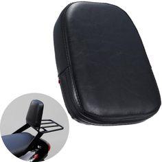 1pc New Synthetic Leather Cushion Pad Motorcycle Passenger Sissy Bar Backrest Lazyback For Honda Harley Yamaha #7127