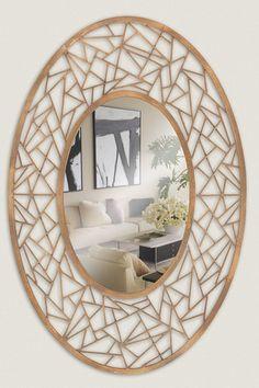 Oval Metal Mirror