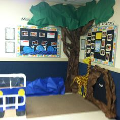 African Safari Classroom Decoration ...love the DIY tree idea for a reading/bible story time center