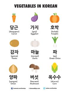 Hey everyone! Here is today's vocabulary: Vegetables in Korean. Korean Slang, Korean Phrases, Korean Words Learning, Korean Language Learning, Learning Languages Tips, Foreign Languages, Language Study, German Language, Spanish Language
