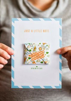 Poppytalk: 7 Weekend Projects to Try || A printed note