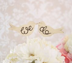 Wedding Cake Topper Love Birds Shabby Chic Wedding by braggingbags, $26.50   -love it!