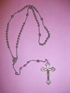 Vintage Silver Tone Rosary Beads by MICSJWL on Etsy, $12.00