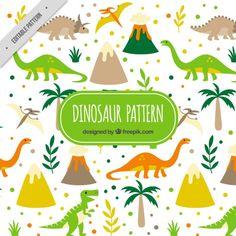 dinossauros selvagens padrão Vetor grátis