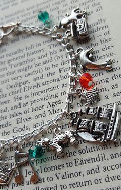 Little Mermaid Charm Bracelet by AlwaysBelieveJewelry on Etsy