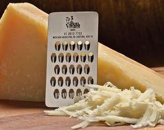 Cartão de visitas ralador de queijo
