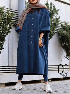 Stylish Dresses For Girls, Stylish Clothes For Women, Jean Dress Outfits, Modest Wedding Dresses With Sleeves, Modest Fashion Hijab, Beautiful Dress Designs, Iranian Women Fashion, Student Fashion, Collection