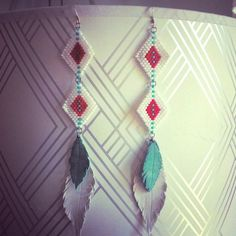 Check out my new line of hand made earrings!!! Modern Mohawk. Native American Cheyenne Stitch Modern by AutrefoisAutreVie, $35.00