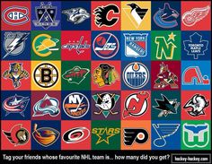 Logos of hockey teams (nhl)
