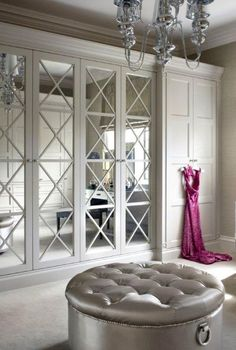 Image result for english wardrobe company mirrored wardrobe circles