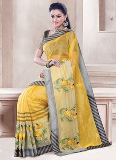 Praiseworthy Chanderi Cotton Casual Saree