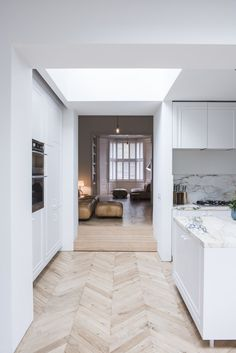 EnvelopeRibbed Welsh slate clads a domestic extension by Manalo & White Glass Extension, Rear Extension, London Home Decor, Victorian Townhouse, London Townhouse, Architecture Today, Roof Lantern, Quirky Decor, Timber Cladding