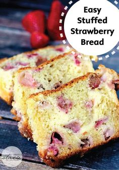 This Cream Cheese-Stuffed Strawberry Bread is a super moist, melt-in-your-mouth kind of recipe that screams summertime!
