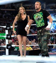 Stephanie and Triple H - triple-h-and-stephanie-mcmahon Photo