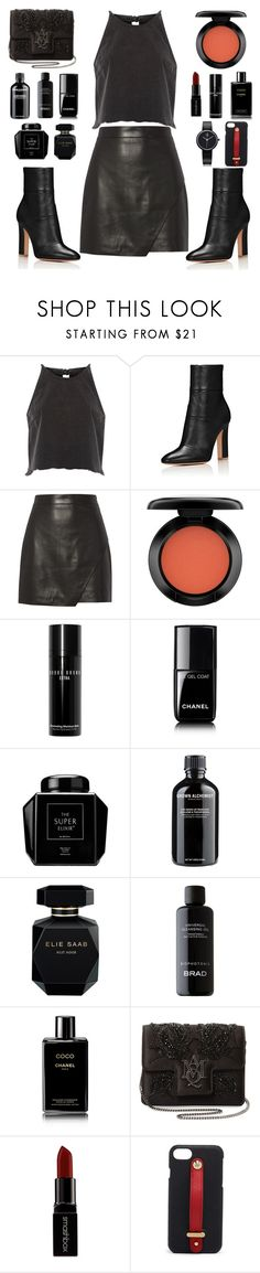 """Black Style"" by fsjamazon ❤ liked on Polyvore featuring River Island, Michelle Mason, John Lewis, Bobbi Brown Cosmetics, Chanel, Grown Alchemist, Elie Saab, Alexander McQueen, Smashbox and Henri Bendel"