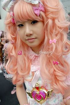 kawaii peachy pink lolita