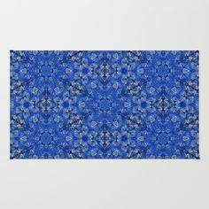 Blue Lace Pattern Rug