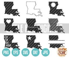 VECTOR SVG Louisiana Map Cut File Design. Louisiana State Vector Map. Vector Cutting File. Clip Art Map Vector, Vector File, Detroit Logo, Louisiana Map, Spooky Eyes, Clip Art, Art Icon, Planner Stickers, Cutting Files