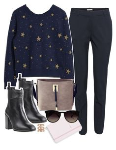 """""""Untitled #952"""" by katarina-jm ❤ liked on Polyvore featuring H&M, Eqüitare, Kate Spade, Ray-Ban and Repossi"""