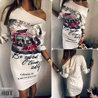 100% New Arrival Size please look at pictures (S,M,L,XL) What You Get: 1 x Fashion Dress Ships out w