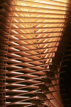 Ian Stell's Blind Light, made of venetian blinds
