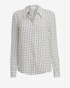 A.L.C. Carolynn Open Back Printed Dot Blouse #intermix #sweepstakes