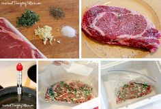 How to cook the perfect steak in your cooler! Going to try this while camping! Walk on the beach and come back to steak ready-to-eat! Pork Recipes, Crockpot Recipes, Cooking Recipes, Cooking The Perfect Steak, Good Food, Yummy Food, Sous Vide Cooking, Make Ahead Meals, Kitchen Recipes