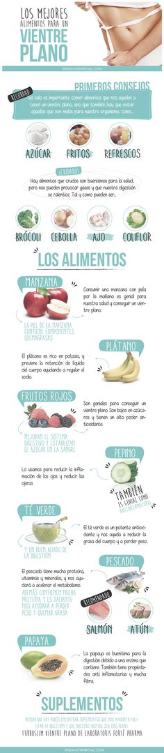 Los mejores alimentos para un vientre plano