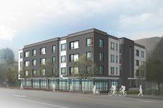 New rendering for the 2811 Hillsborough St mixed-use building (30 apartments above ground retail)