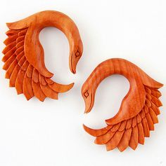 JewelryVolt Double Flare Organic Sawo Wood Red Leather Rose Ear Plugs Girly Big Gauges