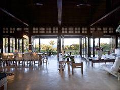 Brazil Vacation Home Design Brazil Vacation, Window Wall, Indoor Outdoor, Floor Plans, Tropical, House Design, How To Plan, Open Floor, Windows