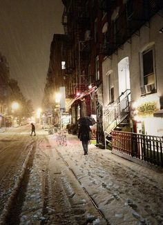 NYC. Snowy Lower East Side by Vivienne Gucwa, via Flickr