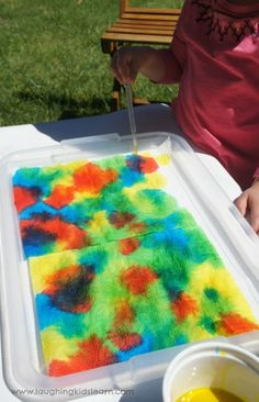fine motor painting activity for kids. indoors and outdoors
