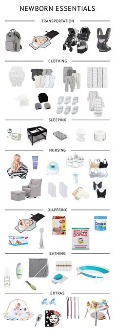 Baby Registry Checklist - essential newborn items for the minimalist mom and baby via @acleanbee