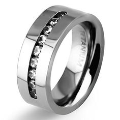 8mm White Titanium Classic Wedding Bands with Brilliant Diamond Inlay for Men High Polish Women's Engagement Tungsten Bands Flat Couple Matching Ring (5) EZreal http://www.amazon.com/dp/B018DOM8WC/ref=cm_sw_r_pi_dp_rEicxb00MCTMJ