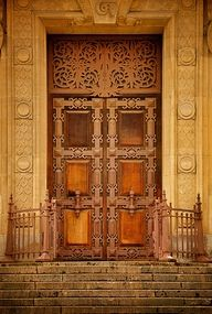 Doorway in Paris - beautiful architecture Grand Entrance, Entrance Doors, Doorway, Cool Doors, Unique Doors, Gates, Porte Cochere, When One Door Closes, Door Gate