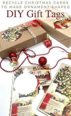 Never be caught without Christmas gift tags again when you learn how to recycle Christmas cards to make gift tags!