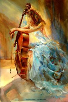 Awesome Beautiful Girls Painting – Art2320 © Anna Razumovskaya http://www.designsnext.com/?p=29548