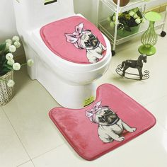 2 Pcs Simple Bathroom Mat Set U Shape Bathroom Carpet Toilet Rugs Non-Slip WC Mat High Water Absorbent Bath Rugs tapete banheiroSimple Cute Dog Pattern 2 Pcs Bath Mat Set Toilet Carpet Suit WC Mat U Shape Non-Slip Bathroom Carpet Rugs tapete banheiro Bathroom Mat Sets, Bath Mat Sets, Beige Carpet, Patterned Carpet, Toilet Mat, Bathroom Carpet, Dog Pattern, Cheap Carpet, Bath Rugs
