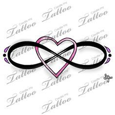 Marketplace Tattoo Eternal Love Infinity Heart Design #15434 | CreateMyTattoo.com