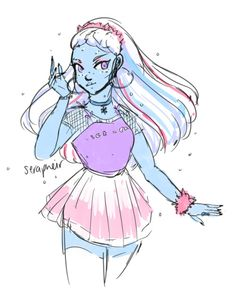 Did some very self indulgent Abbey fanart ; Kids Cartoon Characters, Monster High Characters, Cartoon Monsters, Cartoon Kids, Monster High Art, Love Monster, Monster High Dolls, Character Art, Character Design