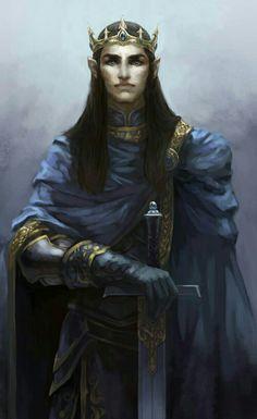 Male Elf Aristocrat Noble Prince - Pathfinder PFRPG DND D&D d20 fantasy