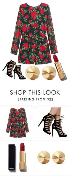 """""""Enterizo"""" by paty-jose on Polyvore featuring H&M, Chanel, Eddie Borgo, women's clothing, women, female, woman, misses and juniors"""