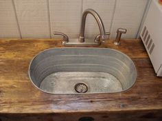 Rustic Driftwood, Metal Tub, Sink Console x 21 deep x 36 h) is part of Metal tub This is a very unique Console Sink Cabinet which is handmade using rustic driftwood which has been salvaged off - Rustic Bathroom Designs, Rustic Bathrooms, Cabin Bathrooms, Rustic Bathroom Sinks, Bathroom Ideas, Western Bathrooms, Shower Designs, Budget Bathroom, Bathroom Remodeling
