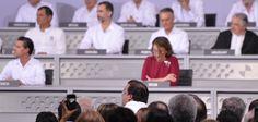 Al evento asistieron 22 jefes de Estado y representantes de Gobierno, entre ellos, el Rey de España Felipe VI. El Presidente de la República destacó la idiosincrasia de los habitantes de esta tierra, una de las ciudades más iberoamericanas del continente y poseedora del puerto más tradicional de México.